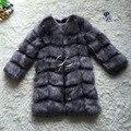CP Marca a Longo Casaco De Pele do Inverno Mulheres Faux Casacos de Pele De Raposa Shaggy Das Mulheres Casaco De Pele Falso Luxo Casaco De Pele Jaqueta de Comprimento Personalizado tamanho