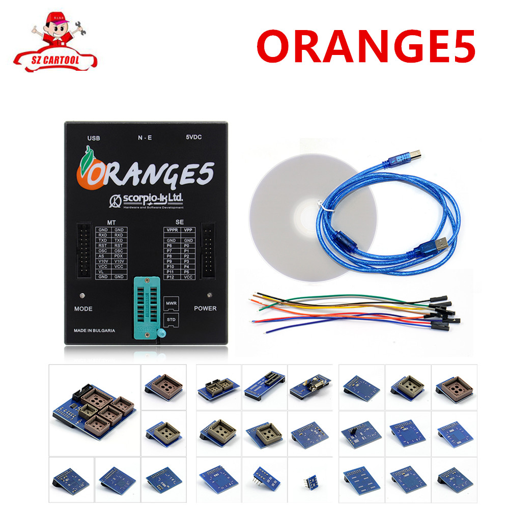 Prix pour Offre spéciale OEM Orange5 Professionnel Dispositif de Programmation Avec Plein Paquet Matériel + Fonction Améliorée Logiciel orange 5