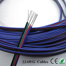 10m 4 PIN RGB led strip Wire 22AWG cables tinned copper for 3528/5050 led Strip pvc insulated electrical extension wire freeship