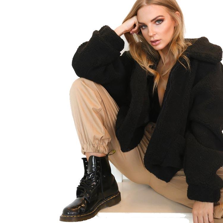 HTB15.hKacnrK1RjSspkq6yuvXXaE Autumn winter jacket female coat 2019 fashion korean style plus size women teddy fur coat female casual jacket woman pusheen
