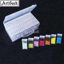 hot deal buy sale 64 slots adjustable plastic storage box storage box box for jewelry diamond embroidery craft bead pill storage tool