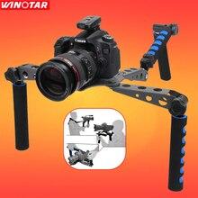 DSLR Камера видеокамера алюминиевый сплав складная DSLR Rig фильм Комплект Плёнки делая Системы плечевая Поддержка Рог стабилизатор