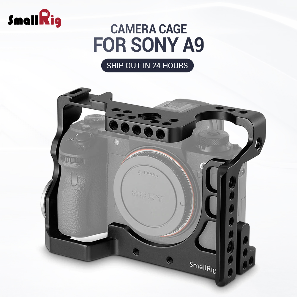 SmallRig A9 Cell for Sony A9 Form Fitting Camera Cage with Nato Rail Cold Shoe Mount