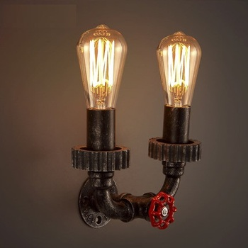 Loft Style Creative Water Pipe Lamp Industrial Edison Wall Sconce Antique Vintage Wall Light Fixtures For Home Lighting