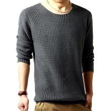 Бесплатная доставка пуловеры свитер мужской о-образным вырезом свитер 2016 весна с длинными рукавами свитер трикотажные мужчин 3 цвета РАЗМЕР: M-XXL