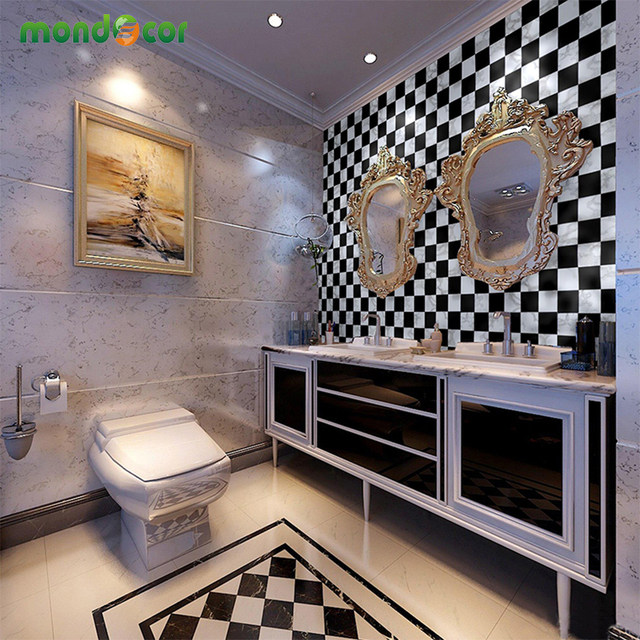 Tienda Online Nuevo impermeable Baño de mosaico vinilo PVC Auto ...