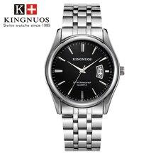 Лидирующий бренд, мужские часы с ремешком из нержавеющей стали, Роскошные мужские часы с датой, водонепроницаемые кварцевые наручные часы для мужчин, деловые часы Horloges Mannen