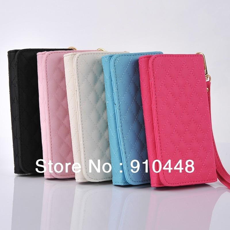 For Nokia 3 Pouch Fashion Id Card Wallet Luxury Grid Pu Leather Flip