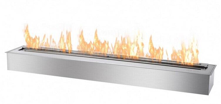 On Sale 120cm Steel Box Ethanol Burner Fireplace Outdoor