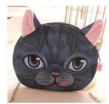 5pcs/Lot! Small Size Bag New Designed Female Retro Cartoon 3D Animal Printing Leopoard/ Lion/Tiger/ Cat Shape
