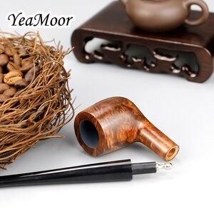 Image 5 - Briar en bois, filtre de 3mm fait à la main pour Pipe à fumer, 17cm de Long, tube de tabac droit, ensemble doutils gratuits