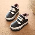 Invierno 2016 nueva parte inferior suave zapatos de los niños de los bebés mantienen cálidas botas de nieve de moda casual zapatos de niño los niños no zapatos antideslizantes