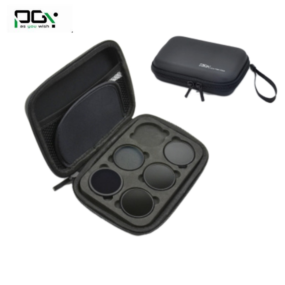 1 Set PGY Lens Filters Include MC-UV ND4 ND8 ND16 CPL Filter for DJI OSMO X3 Inspire 1 Drone Parts Accessories Gimbal Camera Bag pgy fpv skin for dji inspire1 5d carbon fiber waterproof uv decals stickers set quadcopter drone rc parts accessories