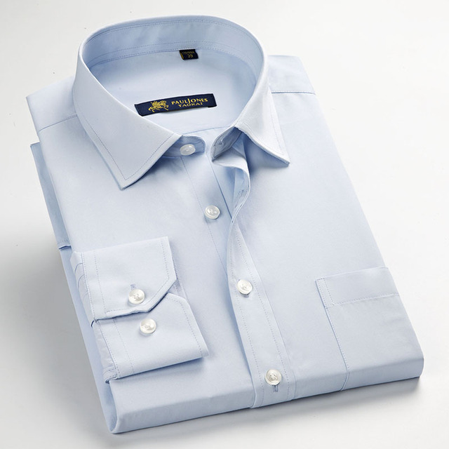Long Sleeve Slim Men Shirt 2017 Brand New Fashion Designer High Quality Solid Male Clothing Fit Business Shirts