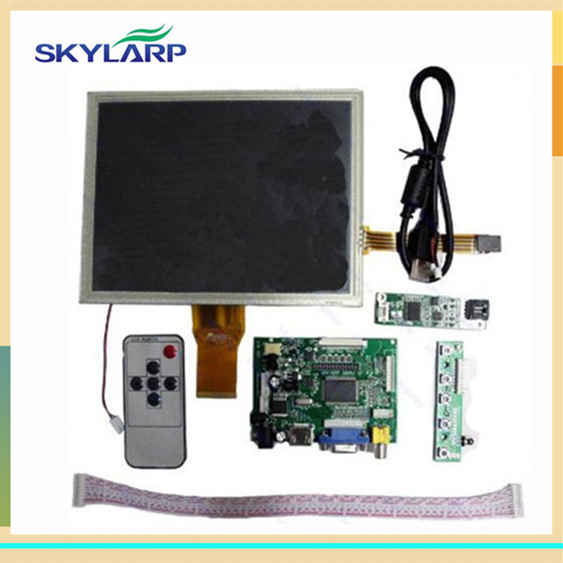 8 inch for AT080TN52 HDMI/VGA/2AV Driver board +touch panel kit for Raspberry Pi vga 2av revering driver board 8inch 800 600 lcd panel ej080na 05b at080tn52