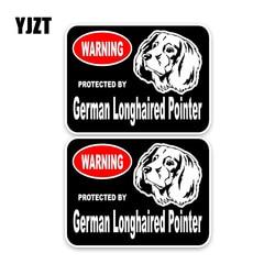YJZT 15*11.4 CM 2X niemieckiego długowłosy wskaźnik osłona odblaskowa dla psów Lnterest naklejki samochodowe C1-4391