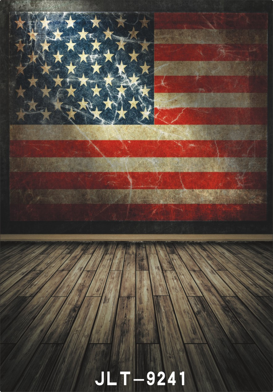 retro american flag background color board background