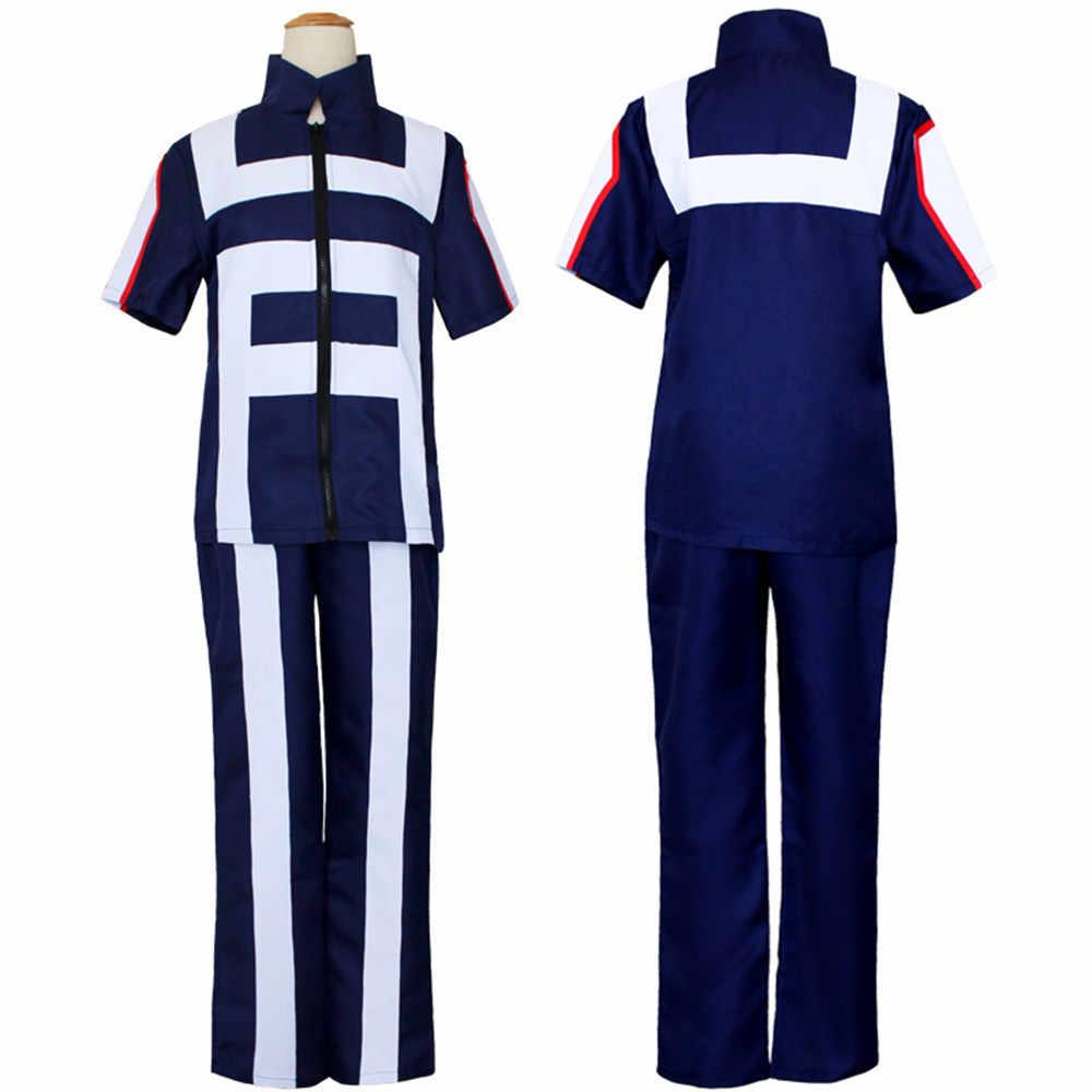 לא גיבור אקדמיה Todoroki Shoto כל התפקידים חדר כושר חליפת גבוהה ספורט תלבושת בית ספר ללבוש תלבושת אנימה Cosplay תלבושות