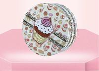 Large Round Tin Boxes Cookies Box 198 198 90mm Beautiful Pattern Food Packaging Gift Box Tea