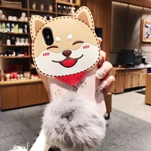 Shiba Inu Silicone Phone Case For iPhone 6 6s 7 8 Plus X Xs Max Xr