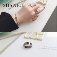 7316124876ba SHANICE 100 Korean S925 Sterling Silver Open Ring Antique Old Fashion  Personality Punk Open Joint Finger. SHANICE 100% coreano S925 de plata  esterlina ...