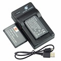 DSTE 2pcs NP-BX1 np-bx1 Li-ion Battery + UDC134 usb charger For Sony DSC-RX100 IV RX10 II RX1 HX300 WX300 WX500 HDR-AS15 CX240E