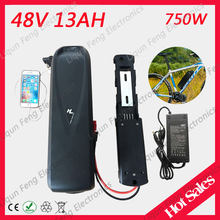 No taxes Hailong battery with USB and Switch 48V 13AH Lithium Battery for Electric Bicycle 48V 750W 500W Bafang motor kits(China)