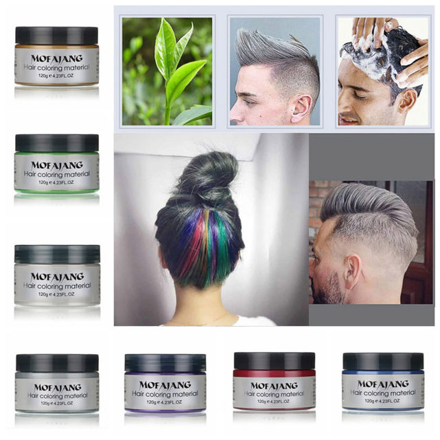 Online Shop 2018 DIY Hair Clay Wax Mud Dye Cream Grandma Hair Ash ...