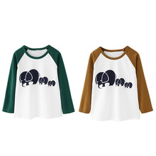 Children's T-Shirts For Girl Clothes Long Sleeve Printed T-Shirts For Boys T-shirts Kids Tee Tops Clothing Baby Boy Girl Clothes