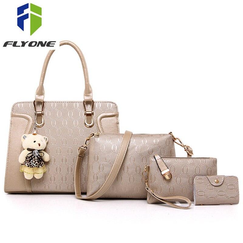 2018 sacs à main de luxe femmes sacs Designer 2018 sacs à main et sacs à main ensemble 4 pièces sacs femme sac à bandoulière Messenger Bolsa Feminina