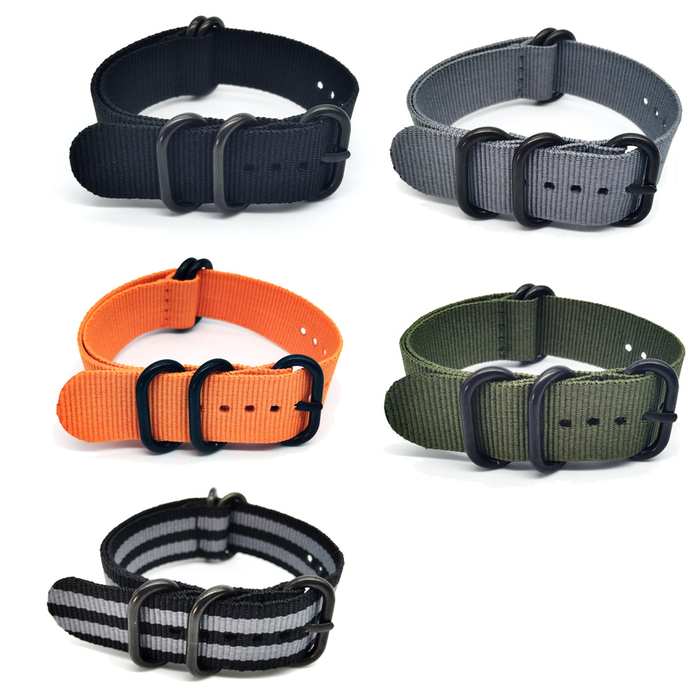 Hot sale mode Diperpanjang Suunto Inti Nilon Tali Band Kit w Lugs Adapter 24mm Watchbands Zulu nilon gelang pintar untuk pria