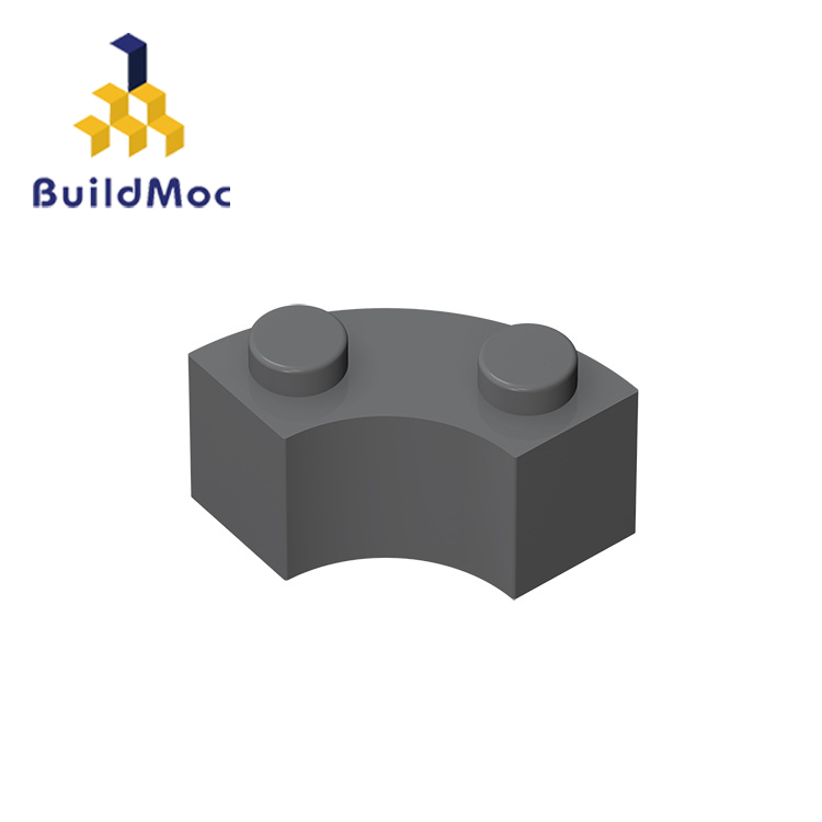 BuildMOC 85080 3063 2x2 Curved Brick Technic Changeover Catch For Building Blocks Parts DIY Educational Creative Gift Toys