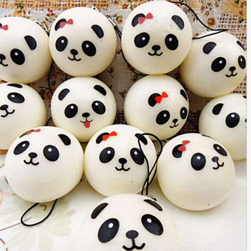 1pc Soft Scented Charms Panda/cat/buns/ Strawberry Cake/ Ice Cream Bear Squishy Bread Chocolate Sprinkles Popsicle Phone Straps Automobiles