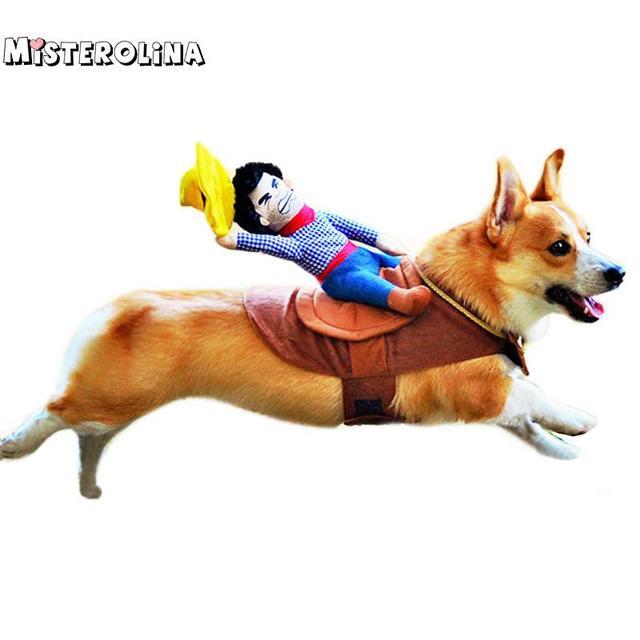 Cane Vestito Pet Vestiti Vestiti Del Cane Pet Cowboy a Cavallo A Cavallo Vestiti