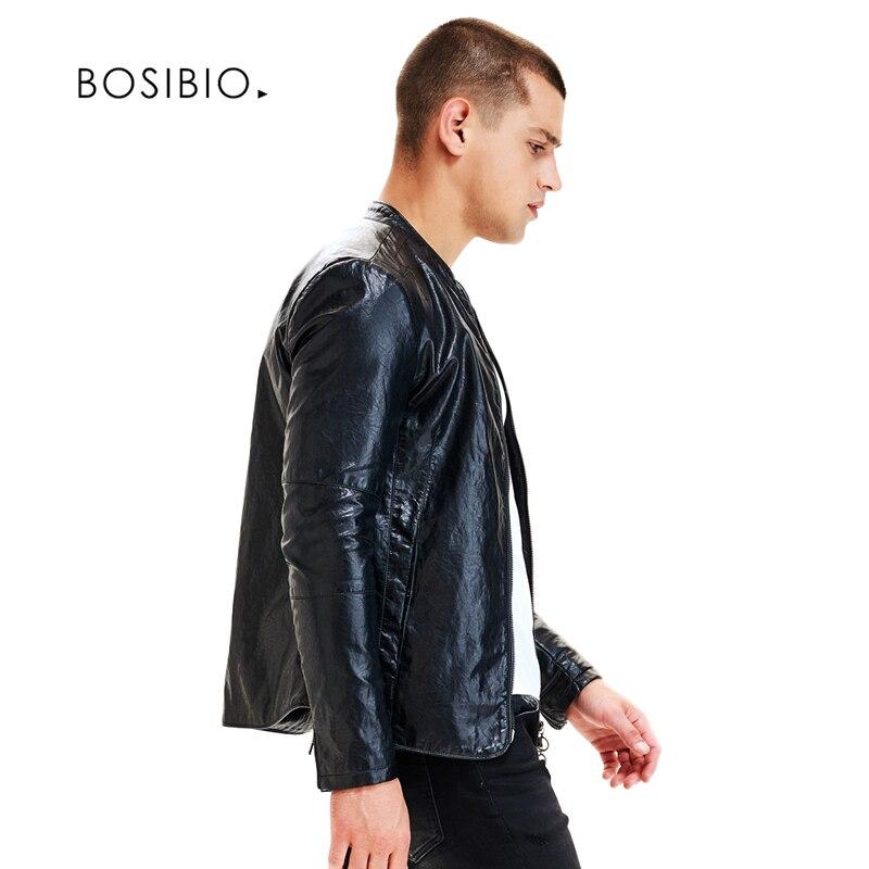 Erkek Kıyafeti'ten Yapay Deri Paltolar'de Yeni Bahar Sonbahar Slim Fit PU DERİ CEKETLER Moda Siyah Motosiklet DERİ CEKETLER Erkek Rahat Mont Yüksek Kalite 9207'da  Grup 3