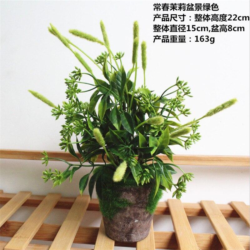 1 PC Mini Buatan Simulasi Tanaman Kayu Putih Rumput Bonsai Pulp Pot Bunga  Rumah Taman Dekorasi 811b93fe55