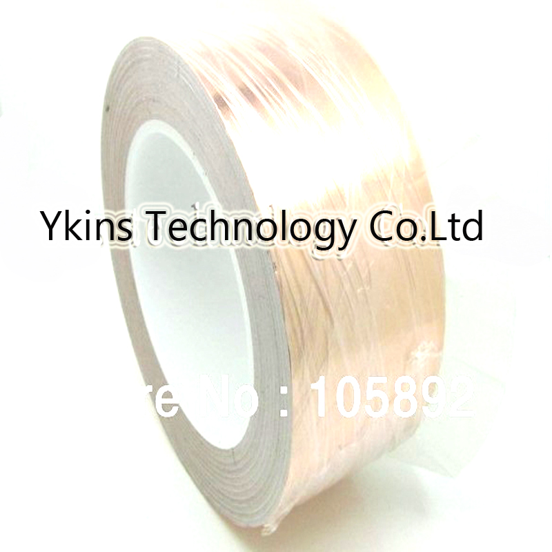 50mm x 30M x 0.06mm Copper Foil Conductive Adhesive and Single Conductive for cooper foil tape of soldering bga hot sale new 2 roll 5mm x 30m single conductive copper foil tape adhesive