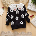 baby girls  autumn winter sweaters 2016 new fashion long sleeve flowers clothes children autumn cartoon outerwear