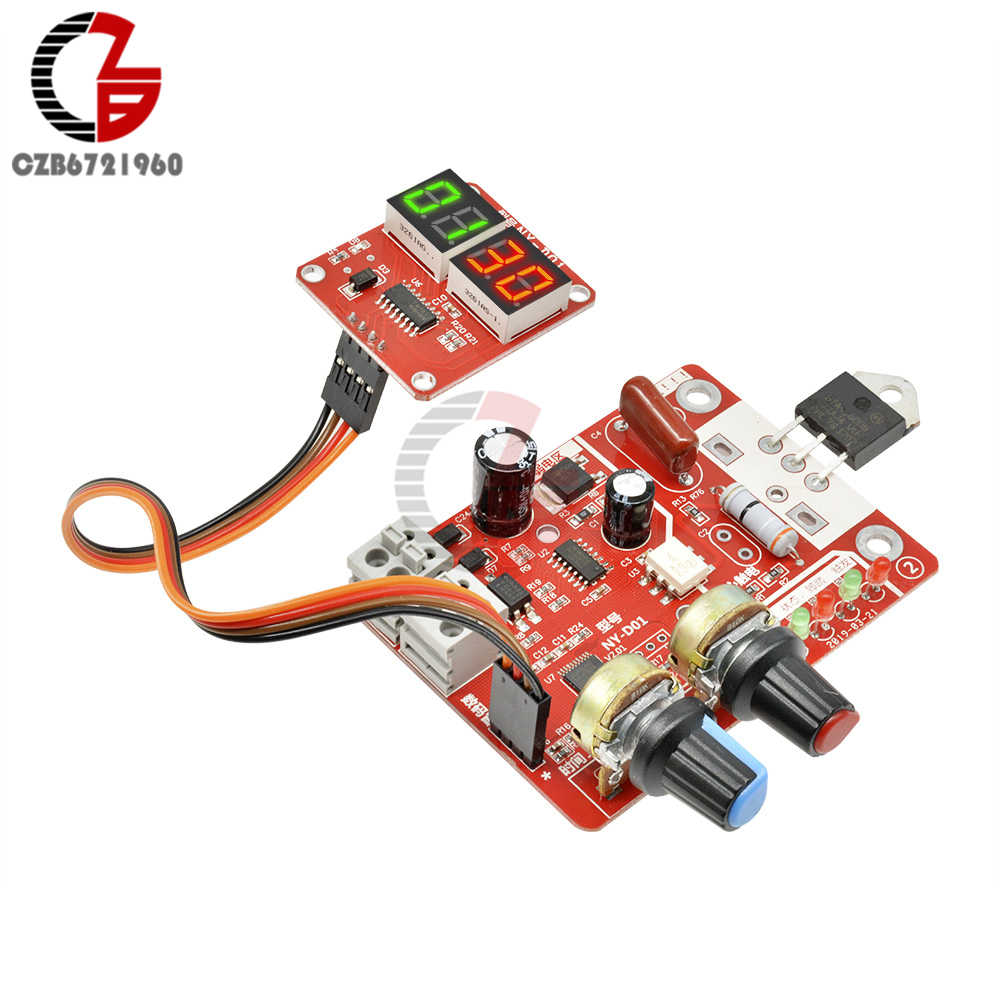 40A 100A Spot Lasser Tijd en Stroom Controller Board LED Digitale Dsiplay Punt Weldering Machine Control Board Panel Trigger