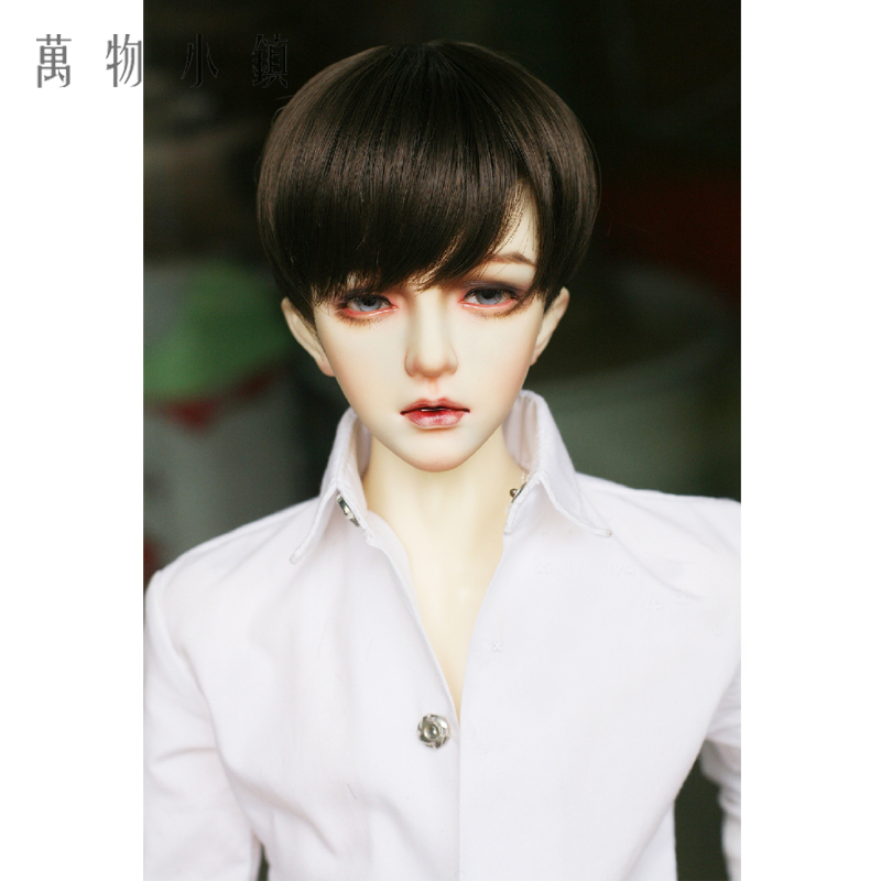NEW 1/3 1/4 1/6 BJD SD MSD YOSD Doll Wig Doll Caramel Dark Brown Short hair ...