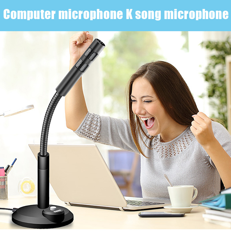 Computer Microphone Plug And Play Portable 360 Degree Noise Reduction For Desktop Laptop PC 8 DJA99