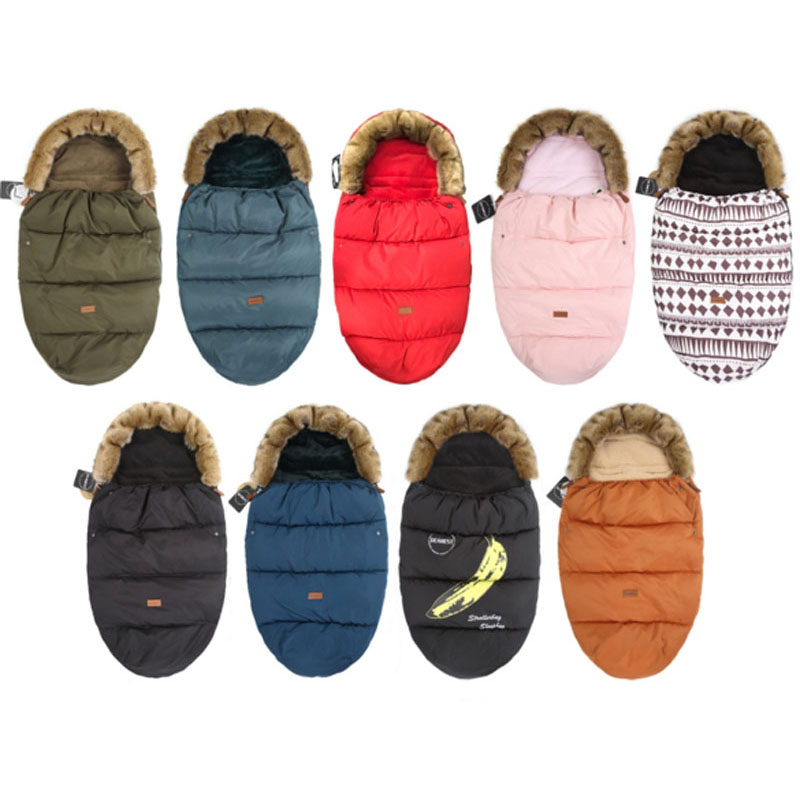 Stroller Sleeping-Bags Baby Kids Winter Infant Newborn Warm for Baby-Carriage 0-12M Footmuff