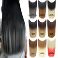 Paidian 22inch Dyed Two Tones Straight Fish Line Hair Extensions Synthetic halo Hair HairPieces One Piece 9colors