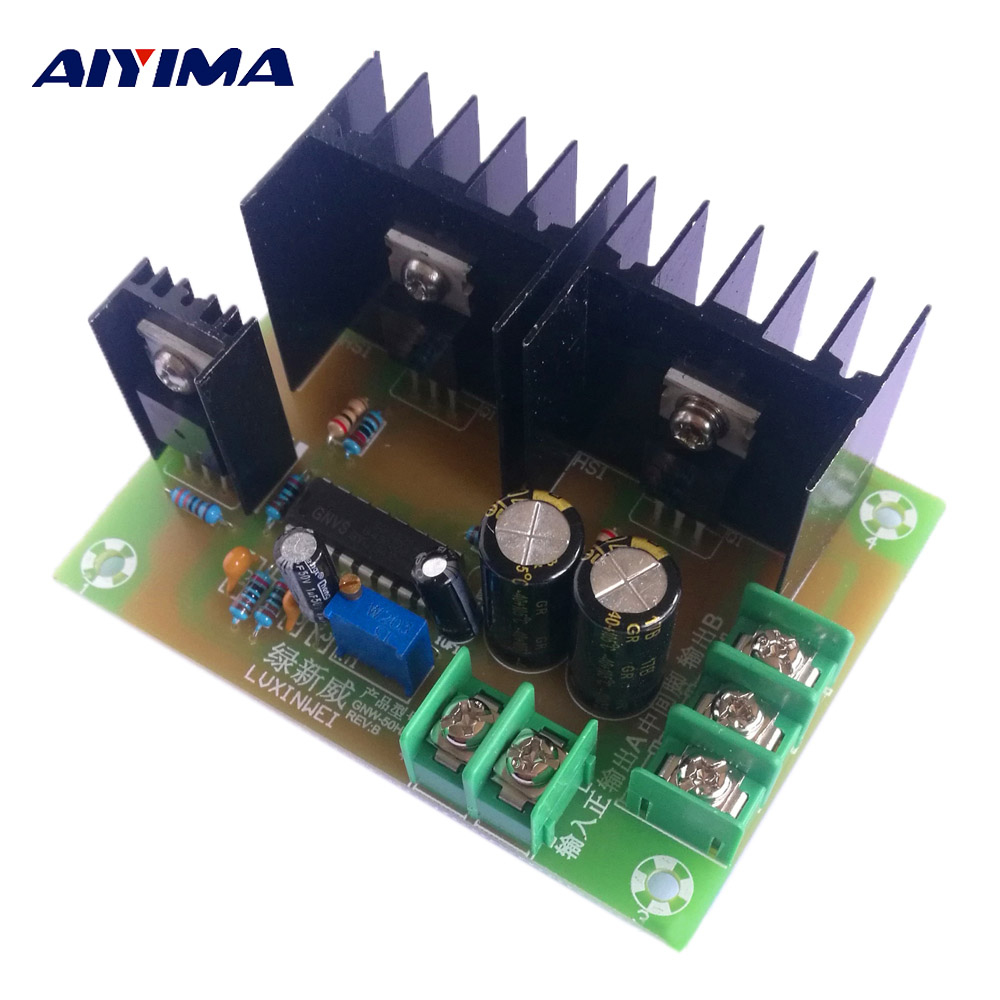 Aiyima 1Pc 12V 300W Inverter Drive Main Board Low Frequency Iron Converter Module Transformer 50HZ halloween rhinestone cat black pettitop girl green zebra pettiskirt outfit 1 8y mamg1226