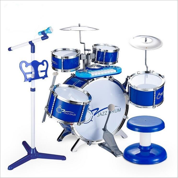 Tambours pour enfants 3-6 ans battre tambour Instruments de musique bébé jouets de musique gros tambours jouets musicaux pour bébé cadeaux Juguetes
