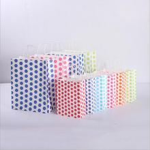 12pcs/lot Fashionable Kraft Paper Bag with handle Large Shopping Bags Christmas Packing Excellent quality
