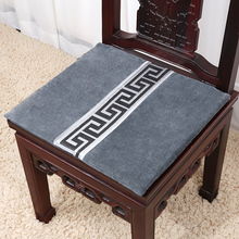 Geometry Lace Velvet Office Chair Cushion Seat Pad High End Classic Chinese style Fabric Car  Decorative