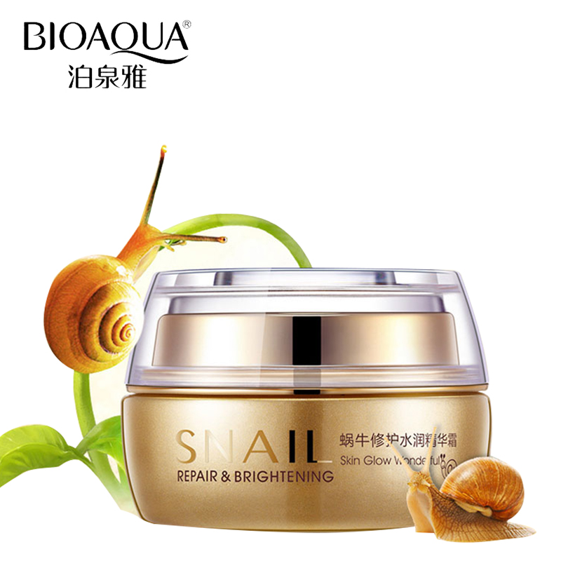 BIOAQUA Brand Skin Care Snail Deep Moisturizing Face Cream Hydrating Anti Wrinkle Anti-Aging Whitening Day Cream 50g hankey new brand snail essence face cream skin care whitening moisturizing oil control anti aging anti wrinkle natural beauty