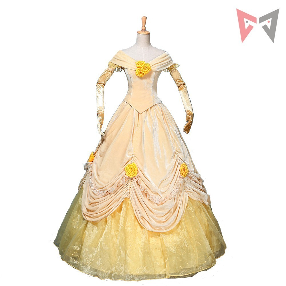 Athemis Anime Beauty and the Beast Princess Dress cosplay Adult style custom made  Dress High Quality