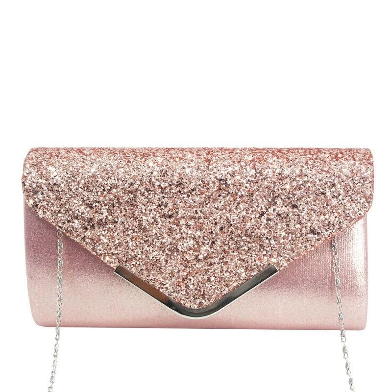 Adisputent Handbag Chain Clutch-Bag Shoulder-Bags Envelope-Design Diamond Party Shiny